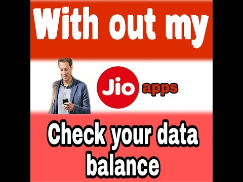 Without My Jio Apps Check Your Daily Jio Data Balance