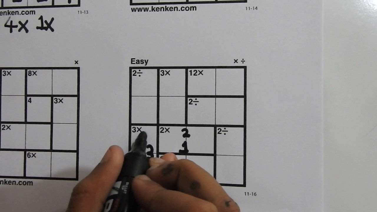 This is an image of Kenken Printable intended for sudoku