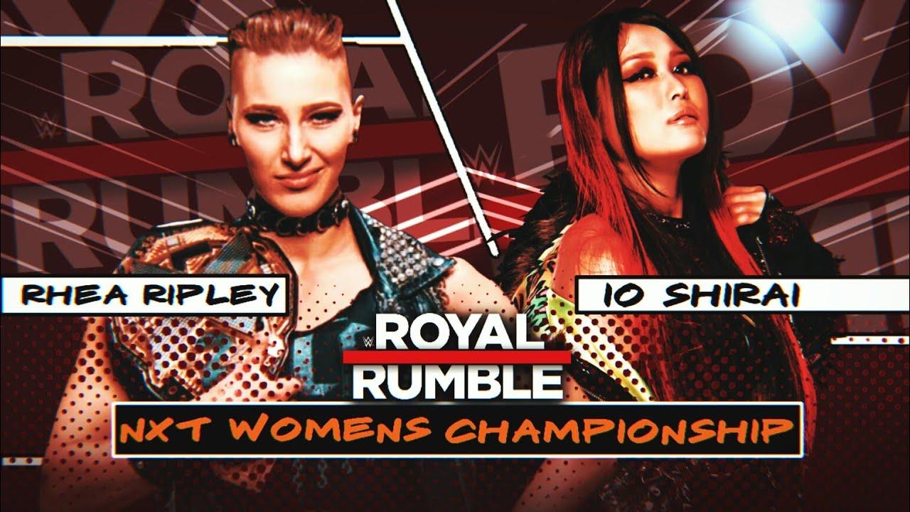 COMO HACER UN MATCH CARD DE WWE ROYAL RUMBLE 2021 | WWE ROYAL RUMBLE 2021  V1 OFFICIAL MATCH CARD - YouTube