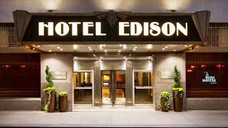 Hotel Edison Room Tour and Hotel Overview - New York City | Attractions
