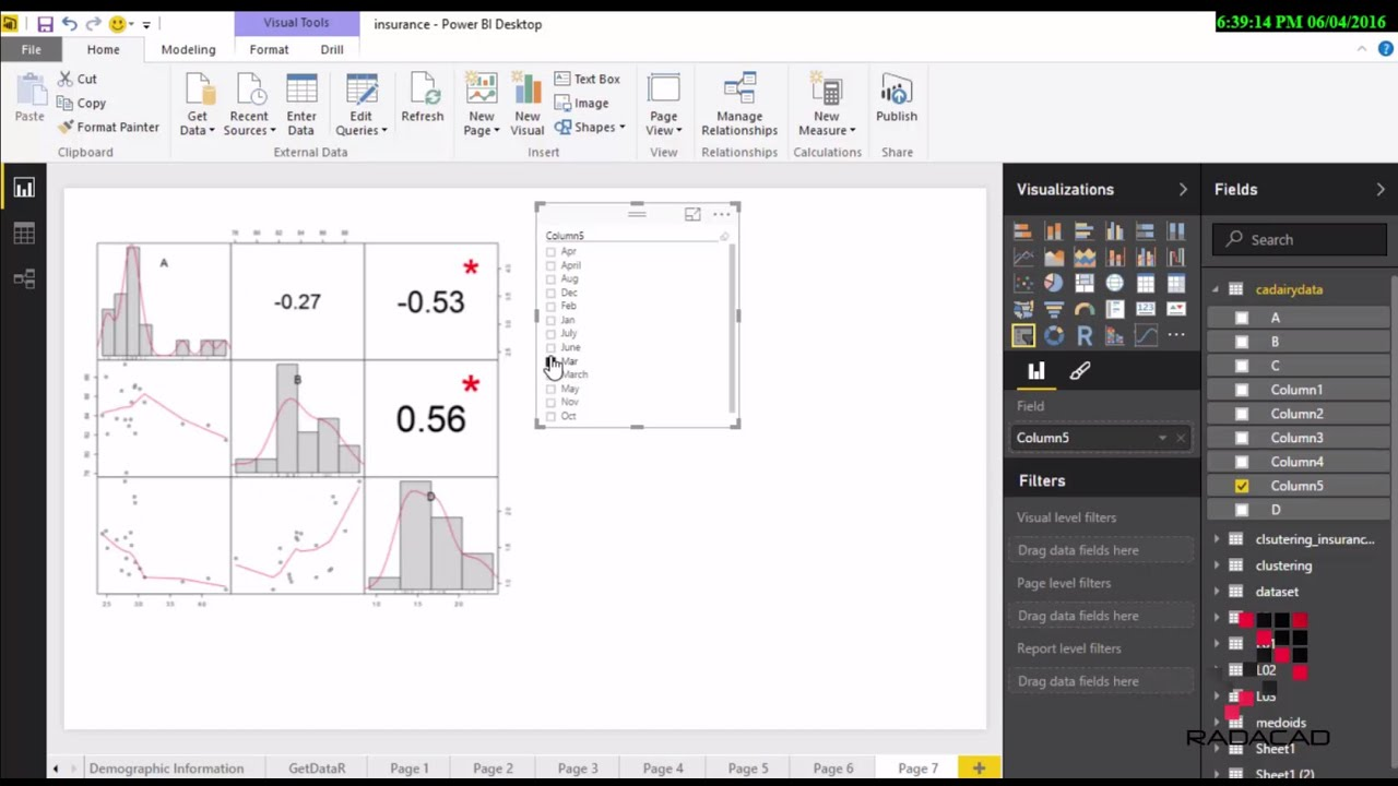 Interactive R Graphs with Power BI