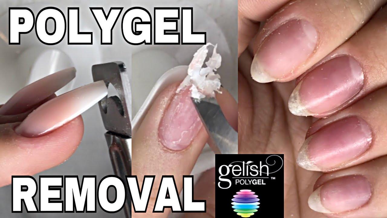 Polygel Removal Isabelmaynails Youtube