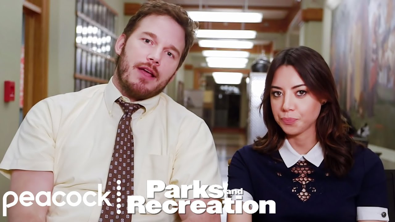 parks and recreation april and andy behind the scenes youtube. Black Bedroom Furniture Sets. Home Design Ideas