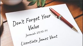Don't Forget Your Value
