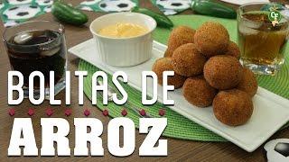 ¿Cómo preparar Bolitas de Arroz con Queso y Jalapeño con Aderezo de Chipotle? - Cocina Fresca