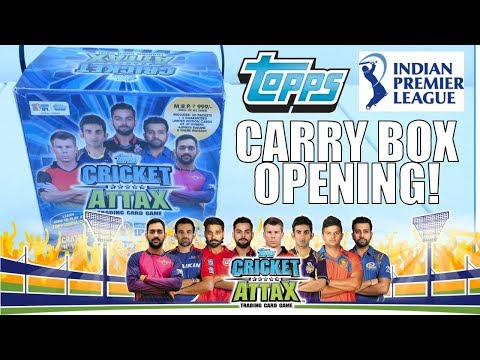 FULL CARRY BOX DISPLAY UNBOXING | Topps CRICKET ATTAX IPL 2017-18 Trading Cards