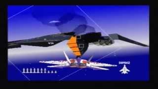 Air Combat (PS1) Walkthrough - Mission 17: Enemy Air Fortress Battle + Ending