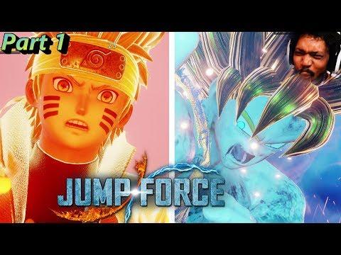 IT IS HERE! NARUTO VS GOKU OMGOSH!1!! | Jumpforce FULL GAME Part 1