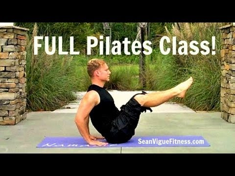 FULL 45 min Pilates Workout Video w/ Warm-Up & Cool Down fro