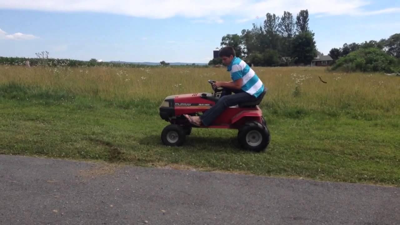 Garden Tractor Pulling Crashes : Garden tractor wheelie gone wrong doovi