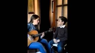Quique y Rocio cantando sevillanas de Paco Candela