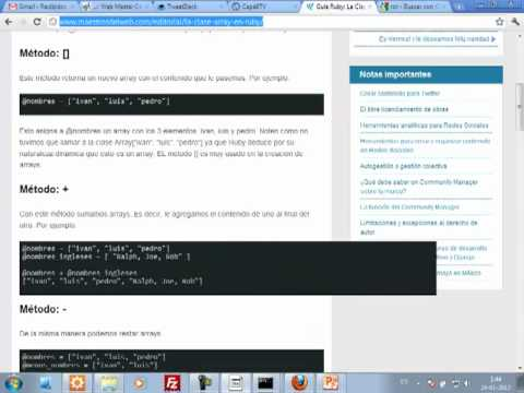 VideoTutorial 5 del Curso de Ruby on Rails