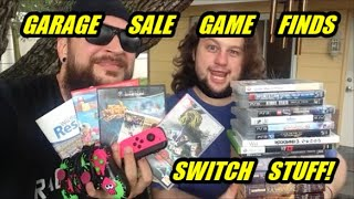 Garage Sale Video Game Finds! CHEAP Nintendo Switch Stuff! | Scottsquatch