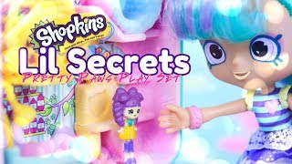 Unbox Daily: ALL NEW Shopkins Lil' Secrets Pretty Paws Play Set