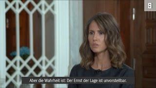 Erster Auftritt seit Kriegsbeginn: Interview mit Asma al-Assad