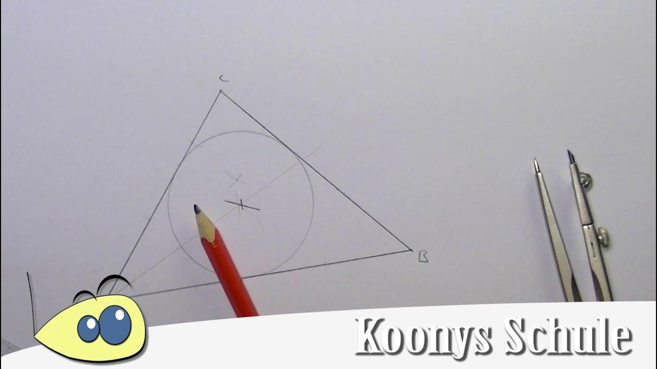 inkreis konstruieren zeichnen dreiecke konstruktionen mit zirkel beispiel geometrie youtube. Black Bedroom Furniture Sets. Home Design Ideas
