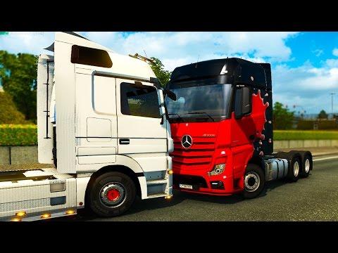 НОВАЯ ФУРА, АВАРИИ, ЖЕСТЬ и ГОНКИ НА ГРУЗОВИКАХ в Euro Truck Simulator 2 Multiplayer