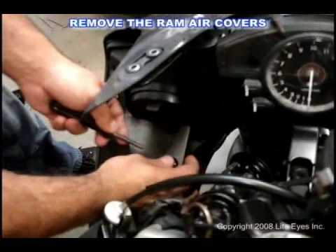 How to remove the headlights from a 2007 R1 (to install CCFL halos