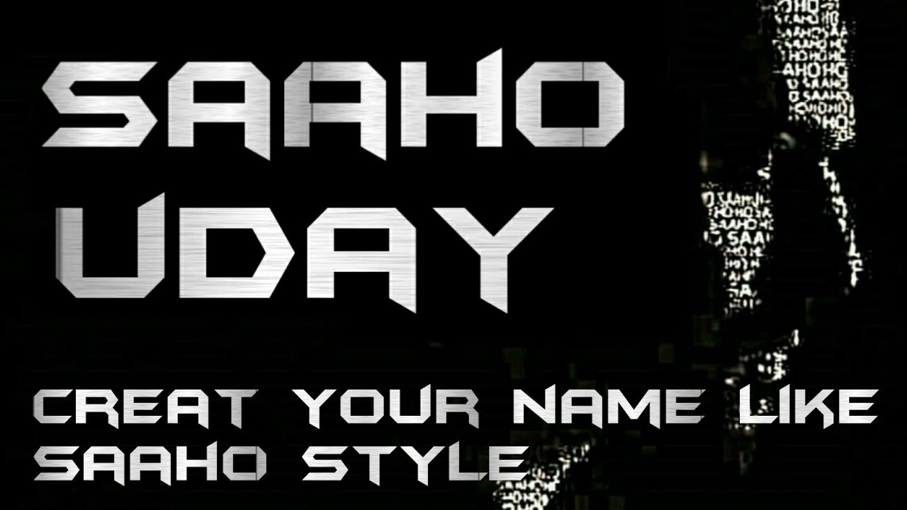 write your name in saaho style font || how to write name in saaho