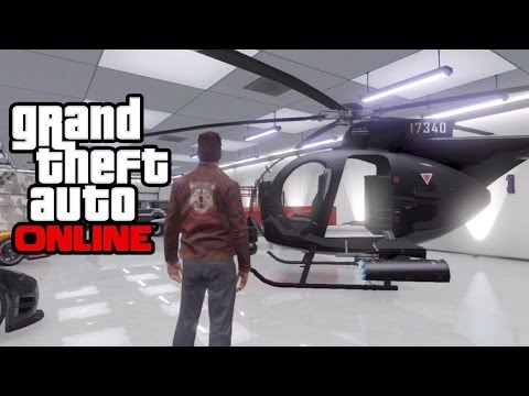 "GTA 5 Online - How To Save/Insure A ""Buzzard"" Helicopter In Your Garage! GTA Online Glitch! (GTA V)"