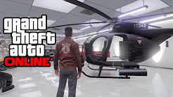 """GTA 5 Online - How To Save/Insure A """"Buzzard"""" Helicopter In Your Garage! GTA Online Glitch! (GTA V)"""