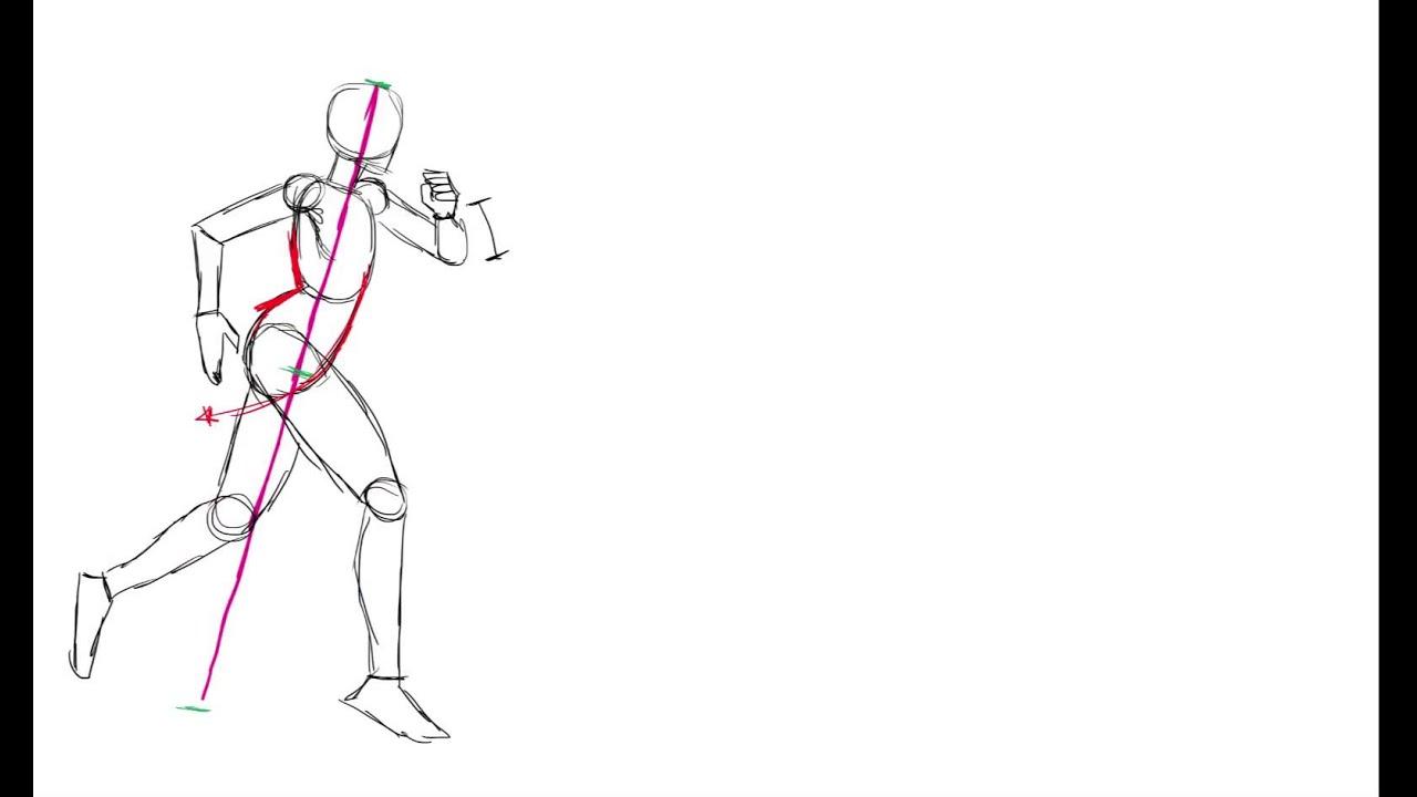 como dibujar la figura humana corriendo  YouTube