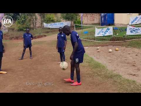 African football academy players showing off amazing football skills!