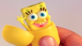 Superhero Stop Motion video for kids Spongebob & Patrick star cartoons