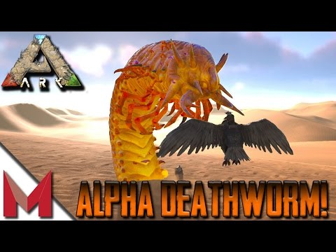 HOW TO FIND ALPHA DEATH WORMS (DEATHWORM) -=- ARK: SCORCHED EARTH DEATH WORM -=- S1E6 GAMEPLAY
