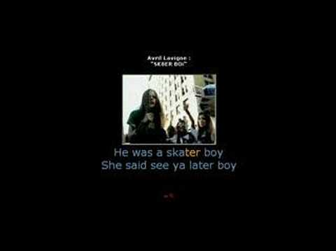Avril Lavigne - Sk8er Boi (KARAOKE)