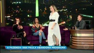 Ana Paula Renault Abandona O Palco Do Programa Do Porchat #Televisivo