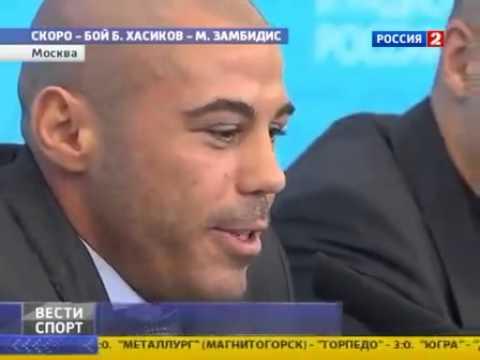 Ο Μιχάλης Ζαμπίδης και ο Batu Hasikov σε ρώσικο δελτίο ειδήσεων