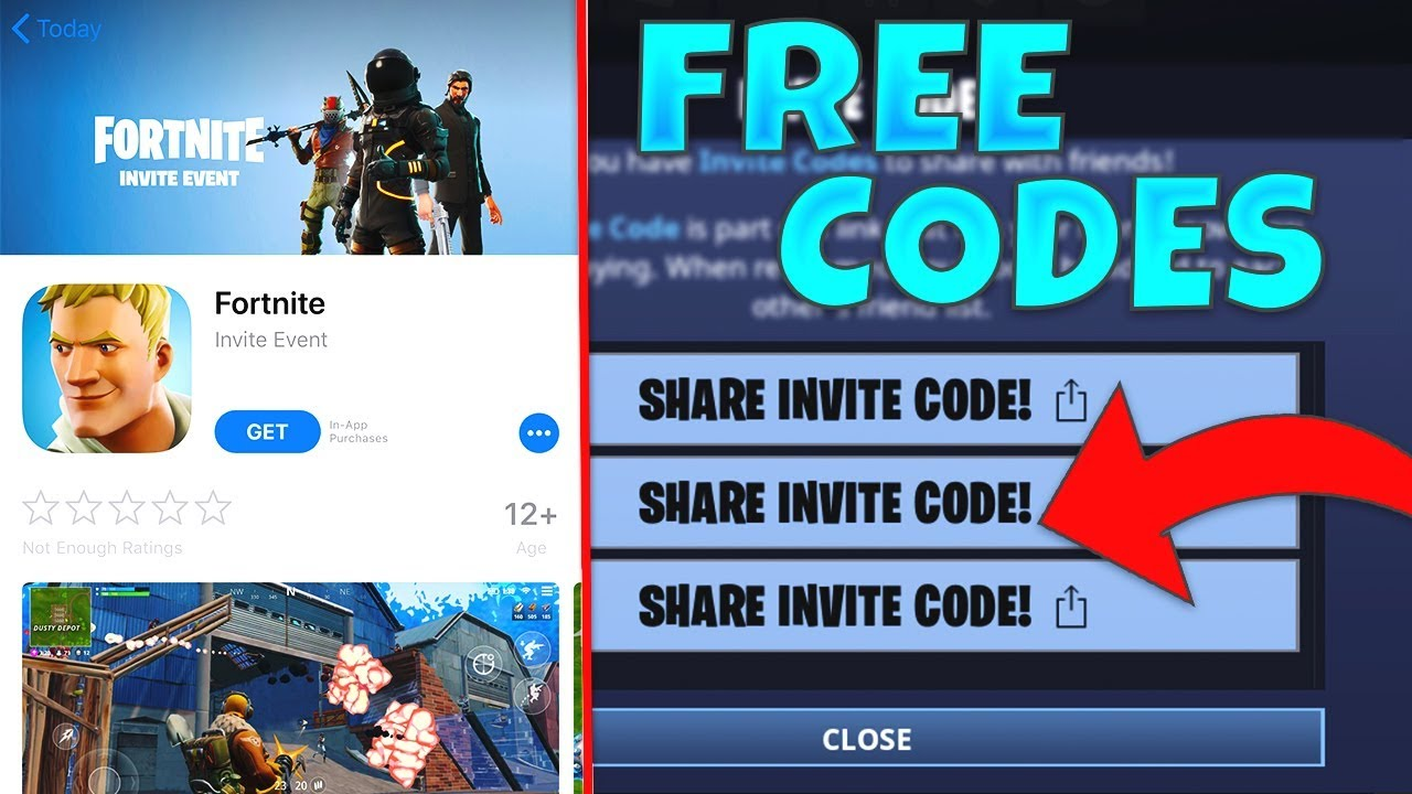 free fortnite mobile codes