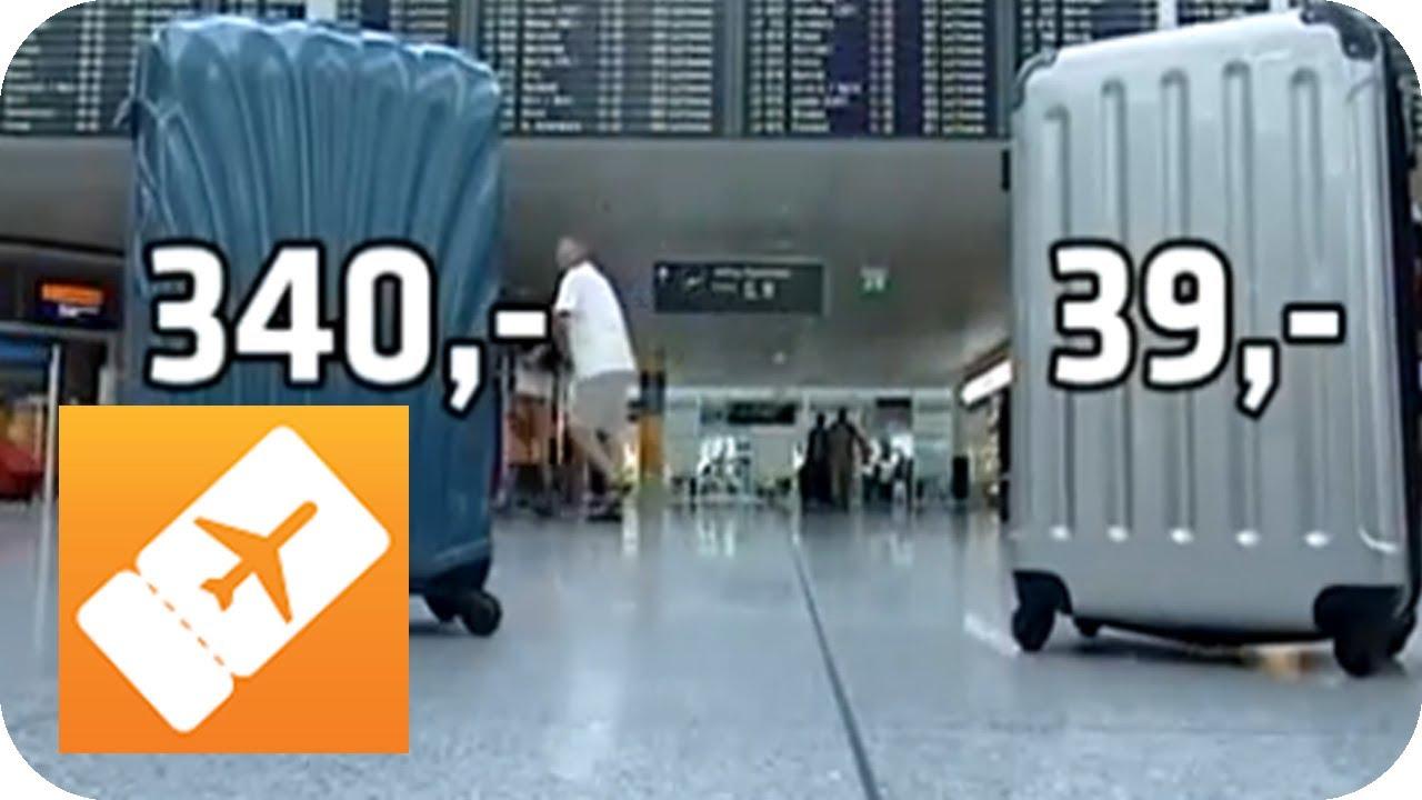 koffertest teuer vs billig der richtige koffer youtube