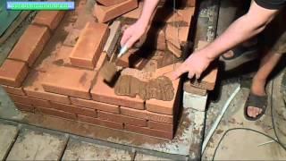 Установка поддувальной дверцы с замковым перекрытием.(В ролике подробно описан процесс установки поддувальных дверок на глиняный раствор с замковым перекрытием..., 2013-07-29T08:08:37.000Z)