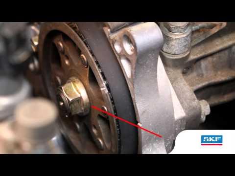 14c8b035e6dab SKF - Demontáž sady rozvodového řemene s vodní pumpou u vozu Toyota Verso -  YouTube