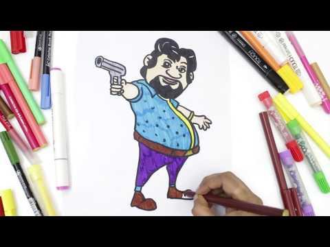 Drawing And Coloring Motu Patu For Kids Fun Coloring With Motu