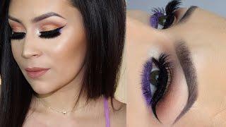 Peachy Purple eyeshadow tutorial & I hate my neighbor part 2