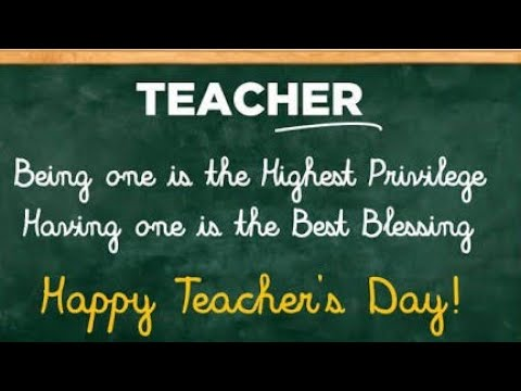 Teacher S Day Wishes Quotes Message Card Writing Happy World Teachers Day 2020 Status 5th October Youtube