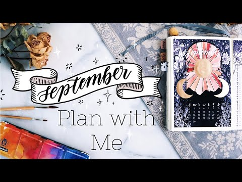 PLAN WITH ME | September + August Bullet Journal Setup 2019