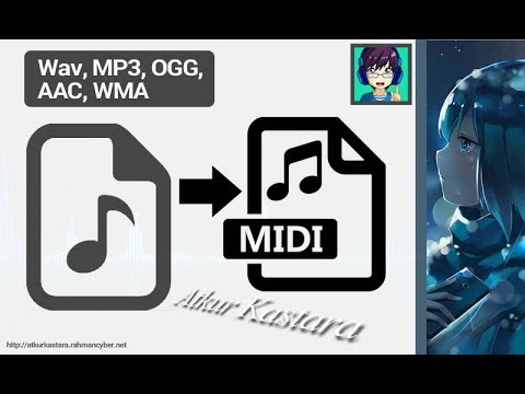 How To Convert Audio Wav, MP3, OGG, AAC, WMA To MIDI Audio File Quickly