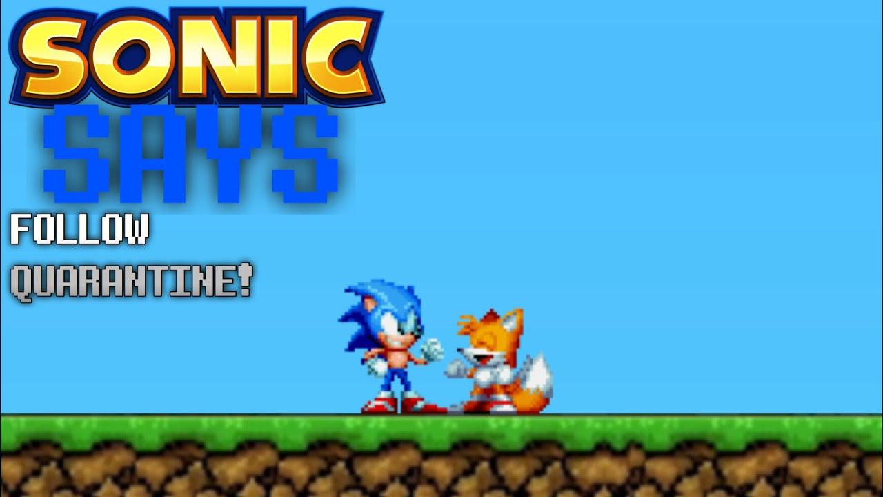 Sonic Says Follow Quarantine Rules Youtube