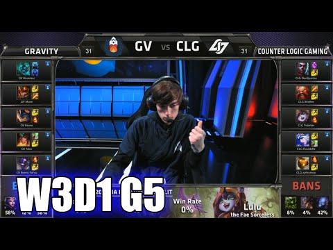 Gravity vs CLG | S5 NA LCS Summer 2015 Week 3 Day 1 | GV vs CLG (Counter Logic Gaming) W3D1 G5