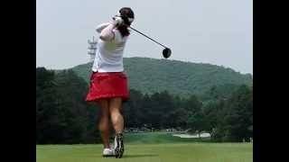 女子プロゴルファー有村智恵  後ろからのドライバーショット 有村智恵 検索動画 22