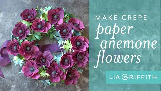 How To Make A Crepe Paper Anemone Wreath