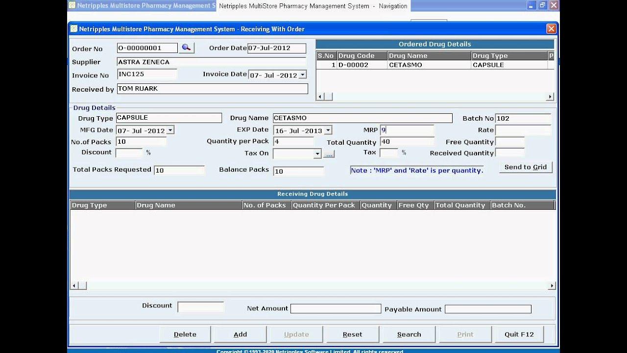 Designated Manager - Medication Procurement and Inventory Management