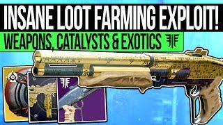 Destiny 2 | INSANE LOOT FARMING EXPLOIT! Easy Mindbender Shotgun, Exotics, Prime Engrams & Catalysts
