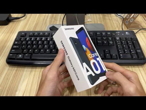 Trên tay Samsung Galaxy A01 Core - Chạy Android 10 Go, pin 3000mAh