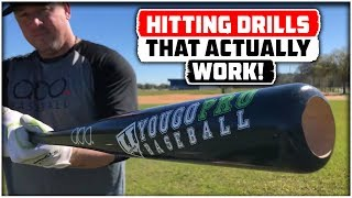 6 Baseball Hitting Drills to work Middle/Opposite Field!  (and to STOP✋Pulling the Ball/Roll Over)