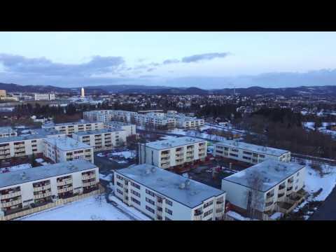 Heimdal Trondheim 2017 March. Dji phantom 3 standart